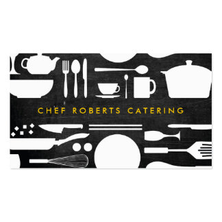BLACK AND WHITE KITCHEN COLLAGE No. 4 Double-Sided Standard Business Cards (Pack Of 100)