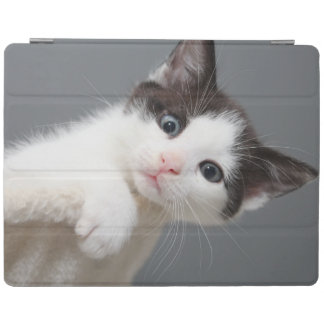BLACK AND WHITE KITTEN IPAD CASE iPad COVER