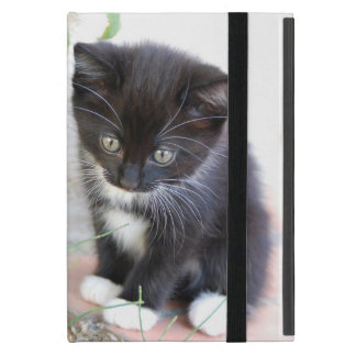 Black and White Kitten iPad Mini Cover