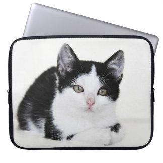 Black and White Kitten Laptop Sleeve