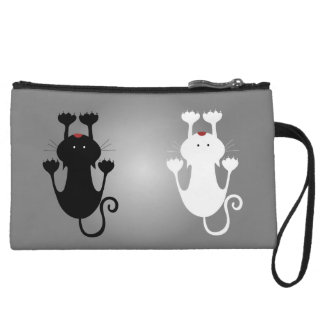 Black And White Kittens Wristlet