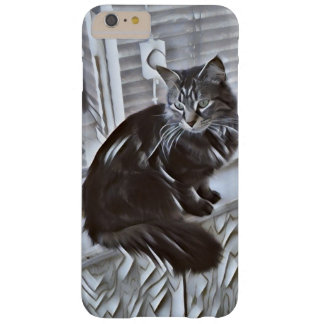 Black and White Kitty Barely There iPhone 6 Plus Case