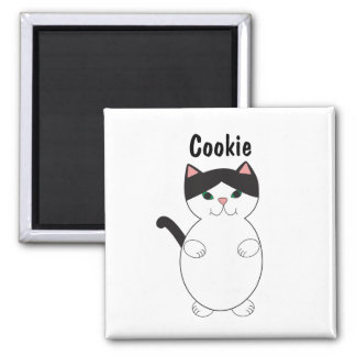 Black and White Kitty Cat Cute Personalize Magnet