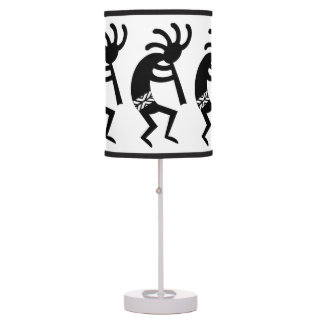 Black And White Kokopelli Southwest Desk Lamp