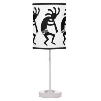 Black And White Kokopelli Southwest Table Lamp