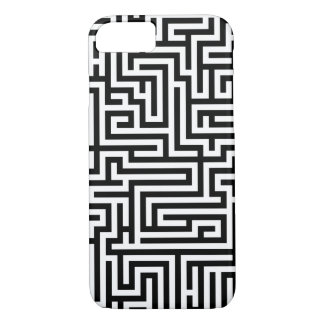 Black and White Labyrinth iPhone 7 Case