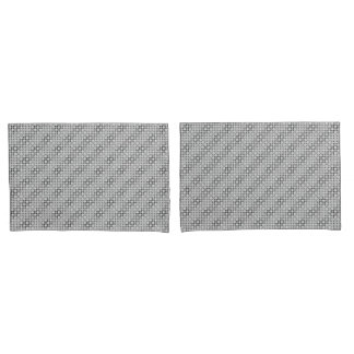 Black and White Lace Geometric Pillowcase