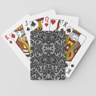 black and white lace playing cards