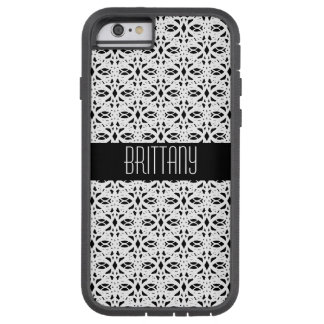 Black and White Lace Style Pattern Tough Xtreme iPhone 6 Case