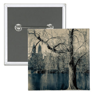 Black and White Landscape Photo Pinback Buttons