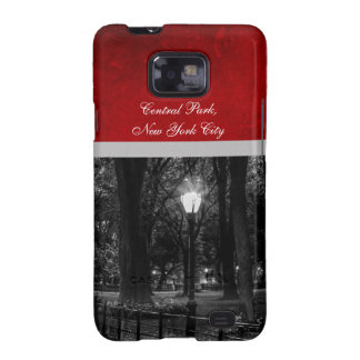 Black and White Landscape Photo of Central Park Samsung Galaxy S2 Cover