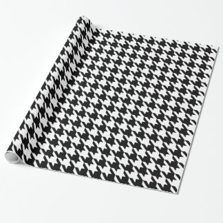 Black and White Large Houndstooth Pattern