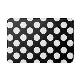 Black and White Large Polka Dot Bath Mat
