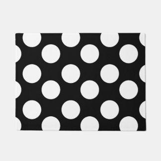 Black and White Large Polka Dot Doormat