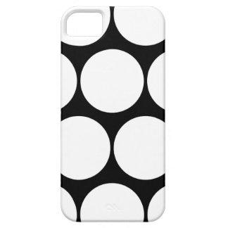 Black and White Large Polka Dot iPhone 5 Case