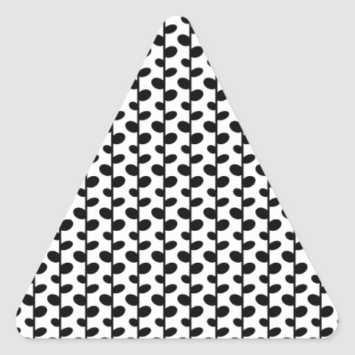 Black and White Leaf Pattern Sticker