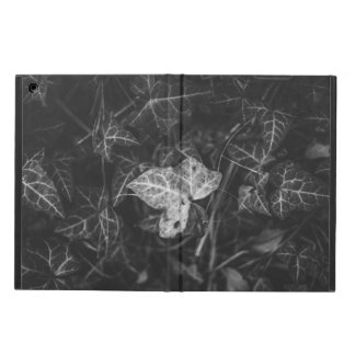 Black and white leaves iPad air cover