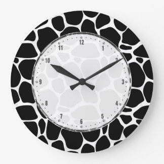 Black And White Leopard Pattern Wall Clock