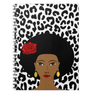 Black and White Leopard Photo Notebook