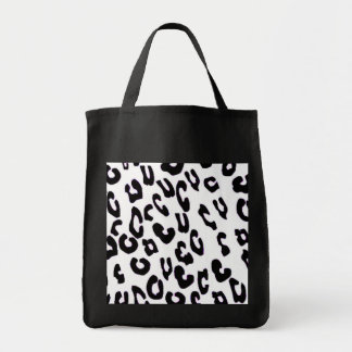 Black And White Leopard Print Bag