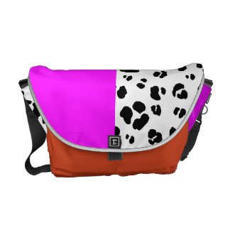 Black And White Leopard Print Bag Commuter Bag