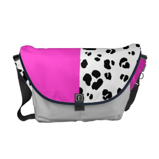 Black And White Leopard Print Bag Commuter Bags
