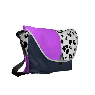 Black And White Leopard Print Bag Courier Bag