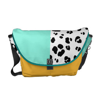 Black And White Leopard Print Bag Courier Bags