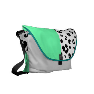 Black And White Leopard Print Bag Messenger Bag