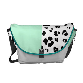 Black And White Leopard Print Bag Messenger Bags