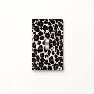 Black and White Leopard Print - Classic Stylish Light Switch Plate