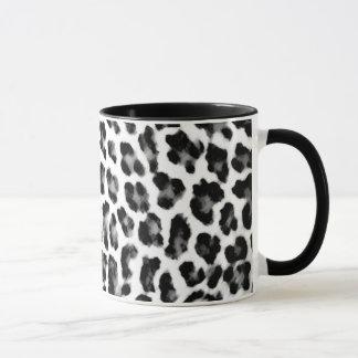 Black and White Leopard Print Mug