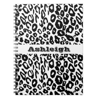 Black and White Leopard Print Note Book