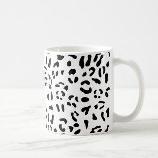 Black and white leopard skin texture coffee mug
