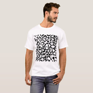 Black and white leopard skin texture T-Shirt