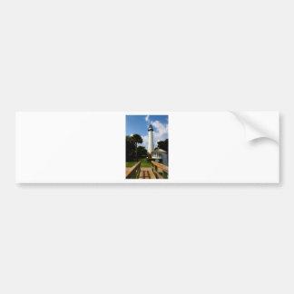Black and White Lighthouse Jekyll Island Georgia Bumper Sticker