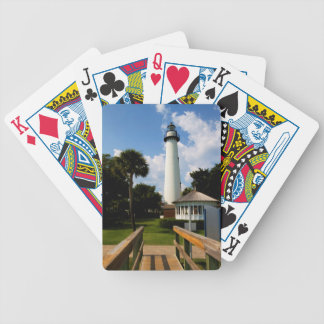 Black and White Lighthouse Jekyll Island Georgia Poker Deck