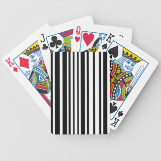 Black and White Lines Bicycle Playing Cards