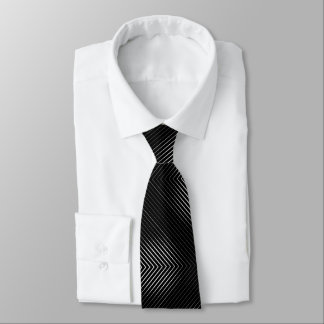 Black And White Lines Tie
