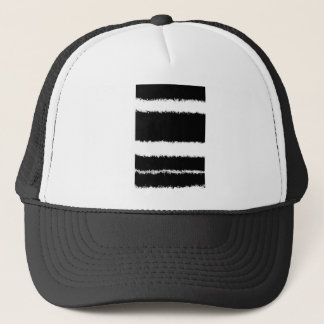 black and white lines trucker hat