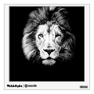 Black And White Lion Wall Decal