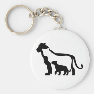 Black and White Lions Keychain