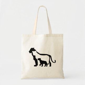 Black and White Lions Tote Bag