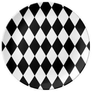 Black and White Liquorice Pattern Plate