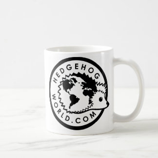 black and white logo mug