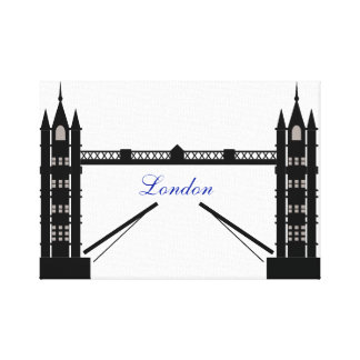 Black and White London Canvas Print