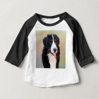 Black and White Long Coat Dog Baby T-Shirt