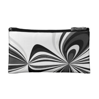 Black and White Loops Cosmetic Bag