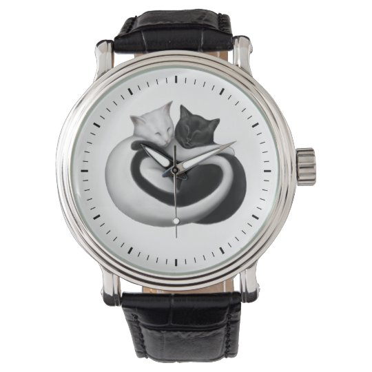 Black and White Love Cats Watch