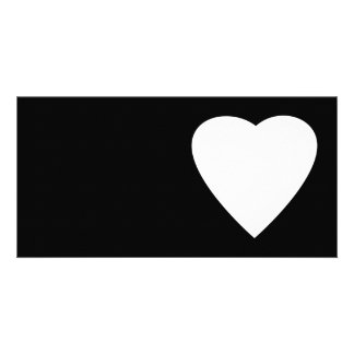 Black and White Love Heart Design Photo Greeting Card